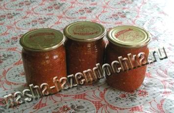 рецепт аджики с помидорами