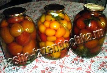 Маринованные помидоры (томаты) рецепт