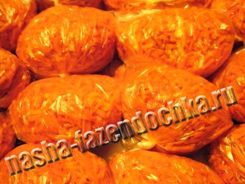 заморозка овощей (морковь, зелень, сладкий перец)