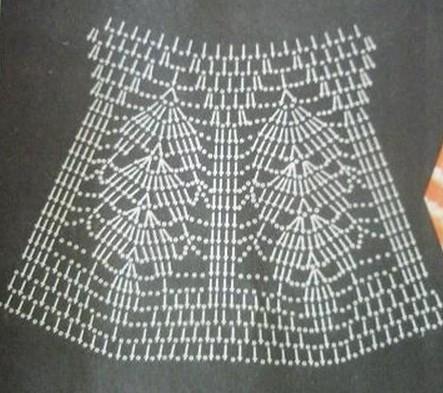 ажурная кокетка крючком схемы